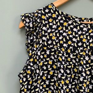 LOFT citrus fruit print blouse